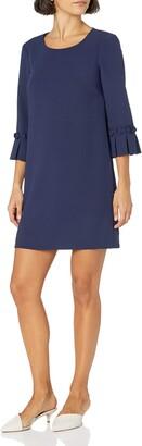 Tahari ASL Women's Petite Oragami Sleeve Shift Dress