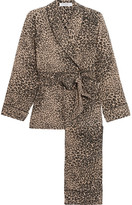Equipment Odette Leopard-print Washed-silk Pajama Set - Leopard print