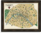 Bed Bath & Beyond Monument Map of Paris Framed Art