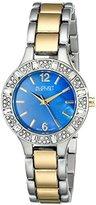 August Steiner Women's AS8135TTBU Swarovski Crystal-Accented Two-Tone Bracelet Watch