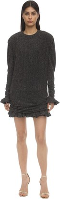Philosophy di Lorenzo Serafini Glittered Jersey Mini Dress