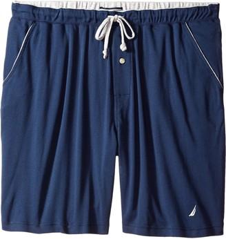 Nautica Tall Men's Soft Knit 100% Cotton Elastic Waistband Sleep Lounge Short