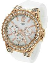 GUESS GUESS? Women's U16529L1 Silicone Quartz Watch with Mother-Of-Pearl Dial