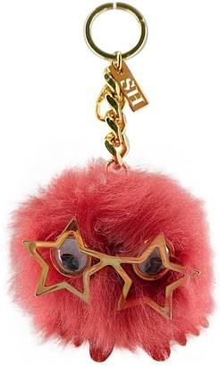 Sophie Hulme Pink Fur Bag charms