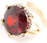 Avalaya Show Off Ruby Red Coloured Crystal Costume Ring - size 8