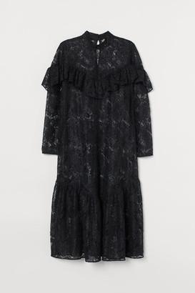 H&M H&M+ Flounced lace dress