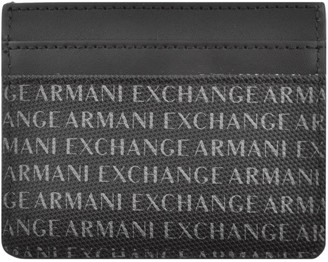 Armani Exchange Leather Card Holder Black