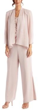 R & M Richards Petite 3-Pc. Pantsuit