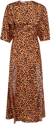ATTICO Leopard Print Maxi Dress