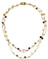 Marco Bicego 18K Mixed Stone Paradise Double Strand Necklace