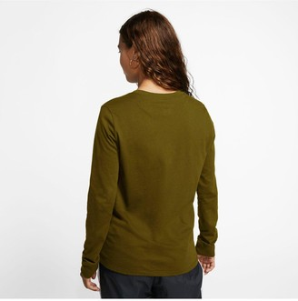 Nike NSWEssentials Icon Futura Long SleeveTop - Olive