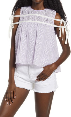 Endless Rose Crochet Lace Babydoll Top