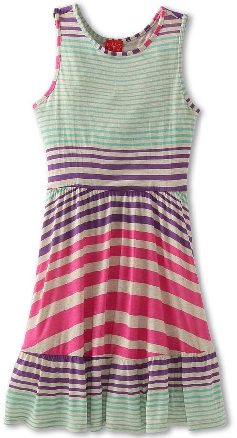 Ella Moss Carmela Dress (Big Kids) (Natural) - Apparel