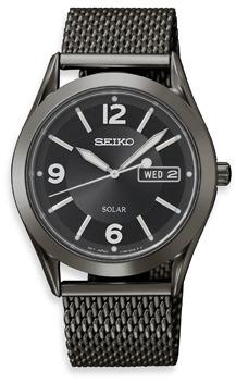Seiko Men's Solar Black Dial BIF 30M Watch