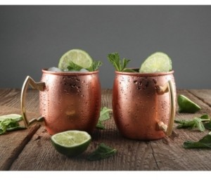 Thirstystone by Cambridge 20 oz Solid Copper Moscow Mule Mugs - Set of 2