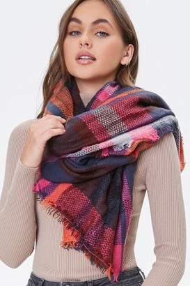 Forever 21 Plaid Infinity Scarf