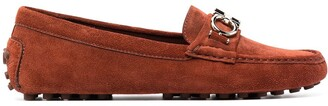 Salvatore Ferragamo Gancini plaque driving shoes