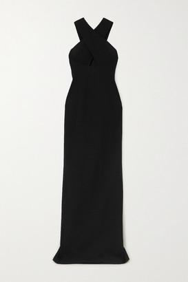 Cushnie Cutout Stretch-cady Gown - Black
