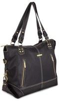 Timi & Leslie Infant 'Kate' Faux Leather Diaper Bag - Black