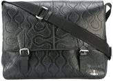 Vivienne Westwood textured shoulder bag - unisex - Leather - One Size