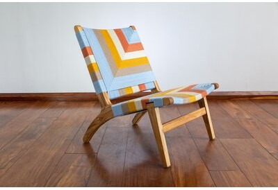 """Thumbnail for your product : Masaya & Co Manila 24"""" Wide Polyester Lounge Chair"""