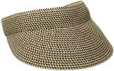 San Diego Hat Company Women's One Size Ultrabraid Visoe with Stretch Sweatband and Velcro Closure