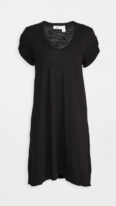 Wilt Ruched Sleeve Trapeze Tee Dress