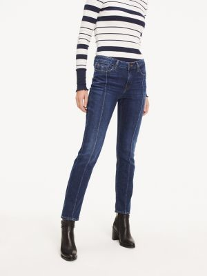 Tommy Hilfiger Rome Straight Fit Crest Embroidery Jeans