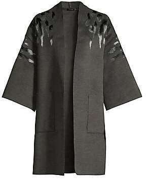 Josie Natori Women's Felted Kimono Topper