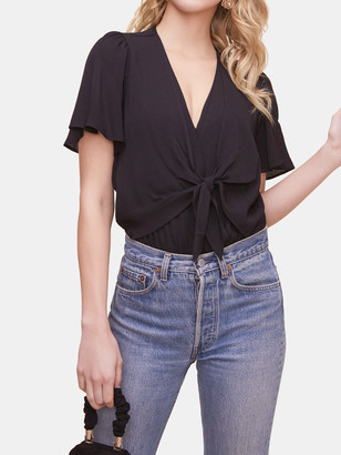 ASTR the Label Cory Front Knot Bodysuit