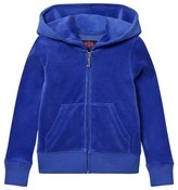 Juicy Couture Royal Blue Glitter Laurel Logo Hoodie