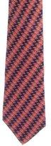 Hermes Geometric Striped Silk Tie