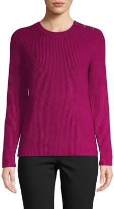 Isaac Mizrahi Imnyc Buttoned Shoulder Sweater