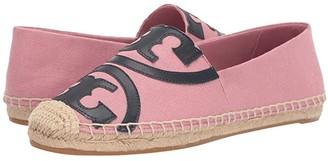 Tory Burch Poppy Espadrille Flat (Blushing/Perfect Navy) Women's Shoes