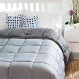 Linenspa Reversible Stone/Charcoal Down Alternative Oversized King Quilted Comforter