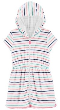Carter's Little Girls Striped Hooded Cover Up