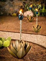 Small Blue Agave Garden Torch