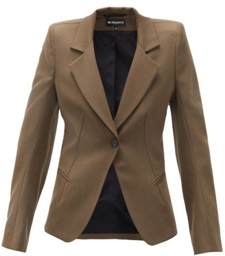 Ann Demeulemeester Tailored Single-breasted Wool-twill Blazer - Khaki