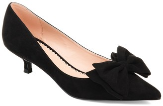 Journee Collection Orana Bow Kitten Heel Pump
