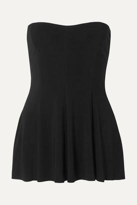Norma Kamali Strapless Swim Dress - Black