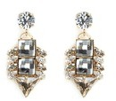 Anton Heunis 'Double Pixel' Swarovski crystal drop earrings