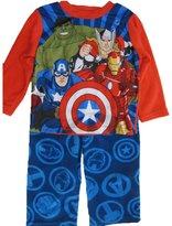 Marvel Little Boys Royal Blue Avengers Superheroes 2 Pc Pajama Set