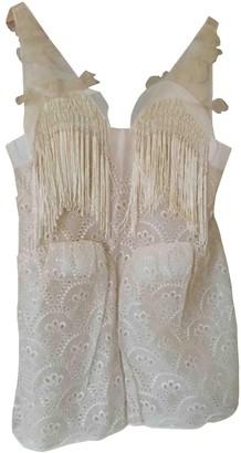 DELPOZO Beige Cotton Dresses