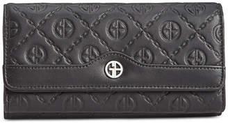 Giani Bernini Logo Embossed Receipt Wallet