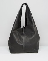 Asos Leather Unlined Slouchy Shoulder Bag