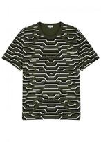Kenzo Dark Green Printed Cotton T-shirt