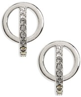 Judith Jack Women's Silver Sparkle Circle Stud Earrings