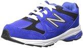 New Balance KJ888V1 Pre Running Shoe, Blue/Black,12.5 M Little Kid