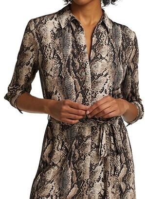 L'Agence Addison Snake Print Shirtdress