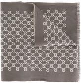 Gucci logo pattern knit scarf